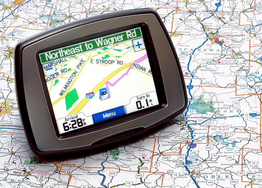 bigstockphoto_Gps_And_Map_1984653