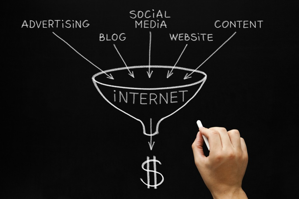 Internet Marketing Concept Blackboard